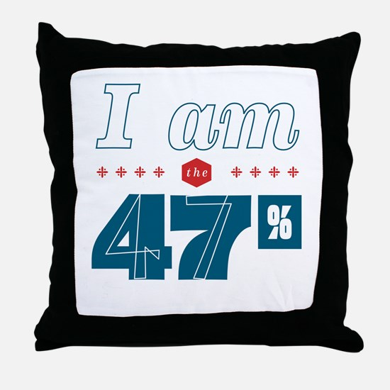 I Am the 47% Throw Pillow