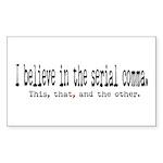 Serial Comma Bumper Sticker (Rectangle 10 pk)