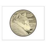 Shiba Inu Dog Art Small Poster