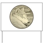 Shiba Inu Dog Art Yard Sign