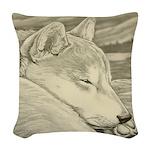 Shiba Inu Dog Art Woven Throw Pillow