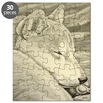 Shiba Inu Dog Art Puzzle