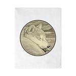 Shiba Inu Dog Art Twin Duvet Cover