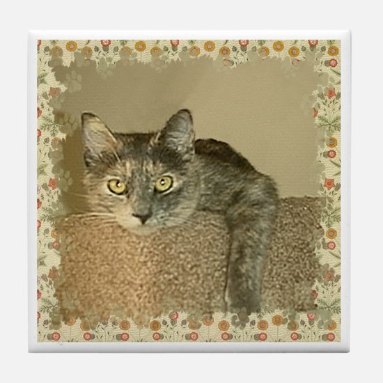 Princess Cat Tile Coaster