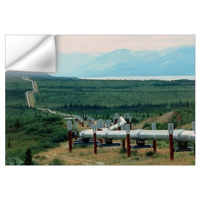 Part of the Trans-Alaskan Oil Pipeline Wall Decal