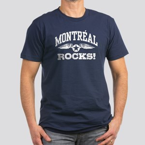 Montreal Rocks Men's Fitted T-Shirt (dark)