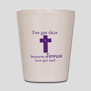 Purple Jesus Has Got Me Shot Glass