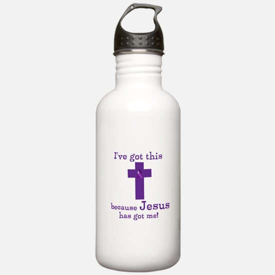 Purple Jesus Has Got Me Water Bottle