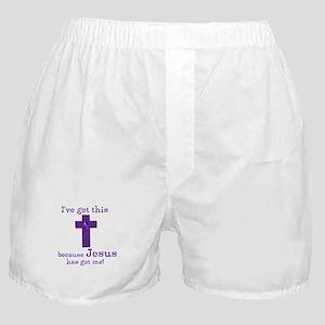 Purple Jesus Has Got Me Boxer Shorts