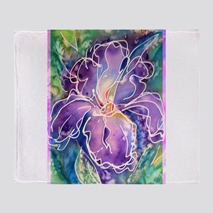 Iris! Beautiful, purple flower, Throw Blanket