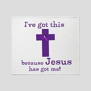 Purple Jesus Has Got Me Throw Blanket