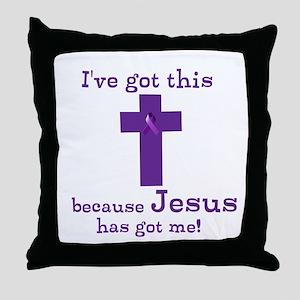 Purple Jesus Has Got Me Throw Pillow