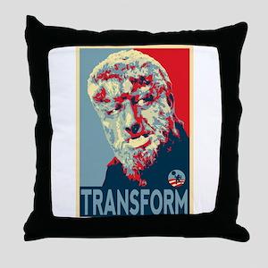 Transform - Wolfman for President 2012 Throw Pillo