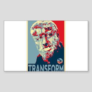 Transform - Wolfman for President 2012 Sticker (Re