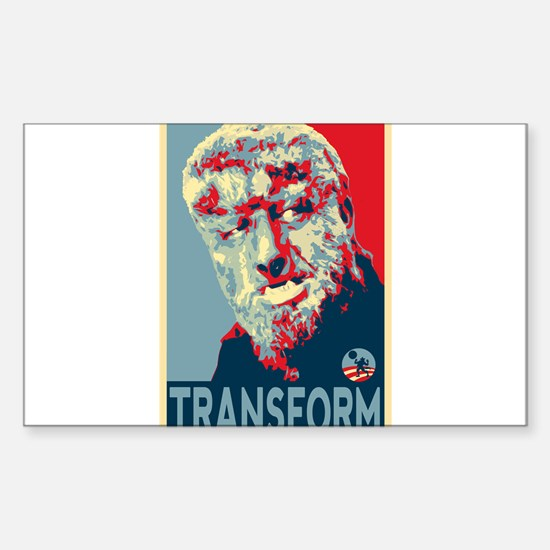 Transform - Wolfman for President 2012 Decal