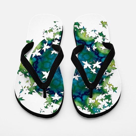 Meditation Leaf Breakout Flip Flops
