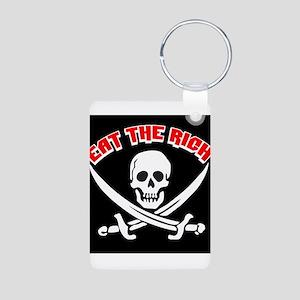 Jolly Roger: Eat The Rich! Aluminum Photo Keychain