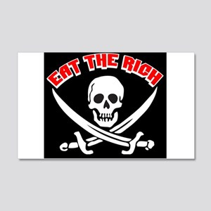Jolly Roger: Eat The Rich! 20x12 Wall Decal