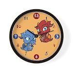 Baby Dragons Clock Wall Clock