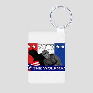 Vote for the Wolfman! Aluminum Photo Keychain
