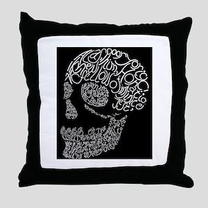 Poor Yorick's Skull: Negative Throw Pillow