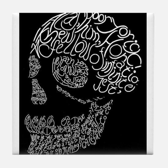 Poor Yorick's Skull: Negative Tile Coaster