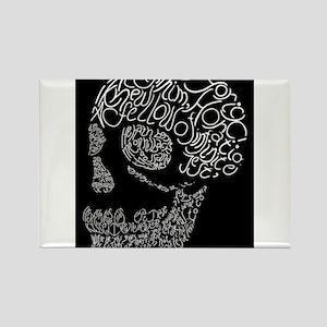 Poor Yorick's Skull: Negative Rectangle Magnet