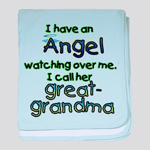 I HAVE AN ANGELGREAT.png baby blanket