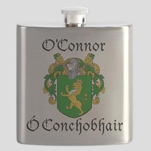 O'Connor in Irish/English Flask