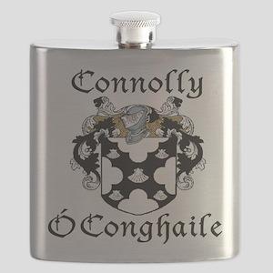 Connolly in Irish/English Flask