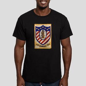 USS RANGER Men's Fitted T-Shirt (dark)