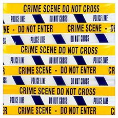 Crime scene tape Poster