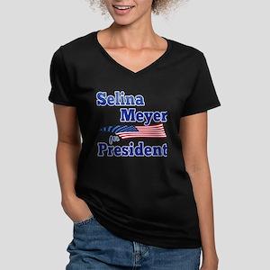 SELINA MEYER FOR PRESI Women's V-Neck Dark T-Shirt