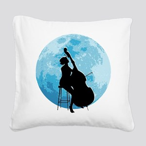 Under The Moonlight Square Canvas Pillow