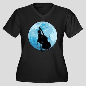 Under The Moonlight Women's Plus Size V-Neck Dark