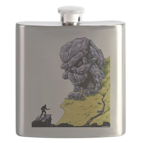 Disc Golf SKULL CAVE Flask