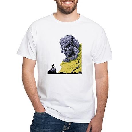 Disc Golf SKULL CAVE White T-Shirt