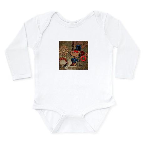 Steampunk Snoopy Long Sleeve Infant Bodysuit