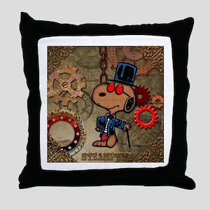 Steampunk Snoopy Throw Pillow
