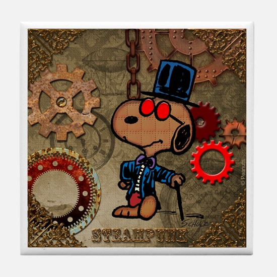 Steampunk Snoopy Tile Coaster