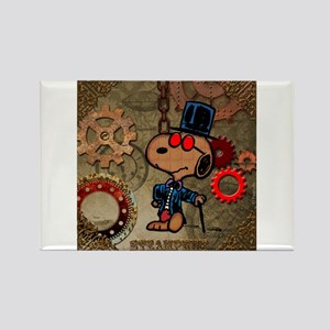Steampunk Snoopy Rectangle Magnet