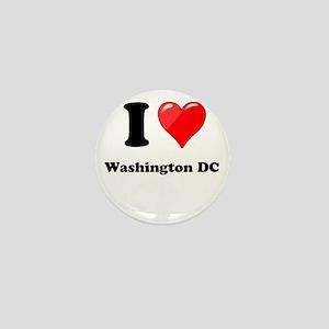 I Heart Love Washington DC Mini Button
