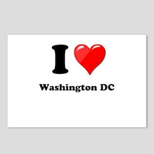 I Heart Love Washington DC Postcards (Package