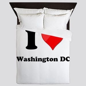 I Heart Love Washington DC Queen Duvet