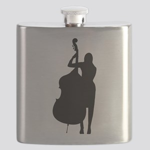 Double Bass Player Flask
