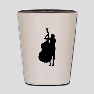 Double Bass Player Shot Glass