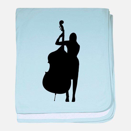 Double Bass Player baby blanket