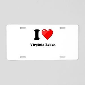 I Heart Love Virginia Beach Aluminum License P
