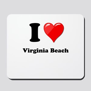I Heart Love Virginia Beach Mousepad