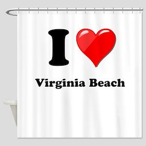 I Heart Love Virginia Beach Shower Curtain